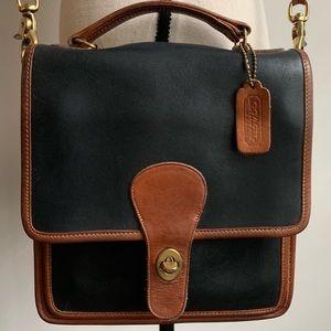 🔥RARE Vintage Coach Willis Station Spectator Bag